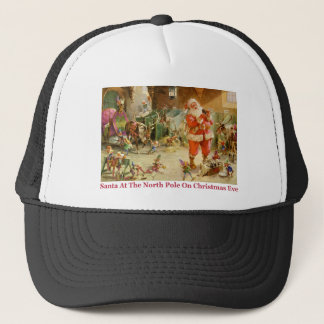Santa & His Elves at The North Pole Stables Trucker Hat