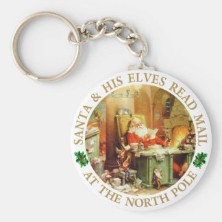 Santa & His Elves Make a List and Check It Twice Key Chains