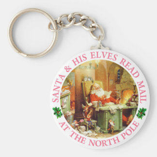 Santa & His Elves Make A List and Check It Twice Key Chain