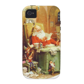 Santa & His Elves Making a List, Checking it Twice Vibe iPhone 4 Cases