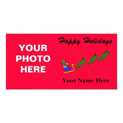 Santa & his Largemouth Bass - funny Card