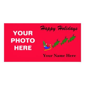 Santa & his Largemouth Bass - funny Photo Greeting Card