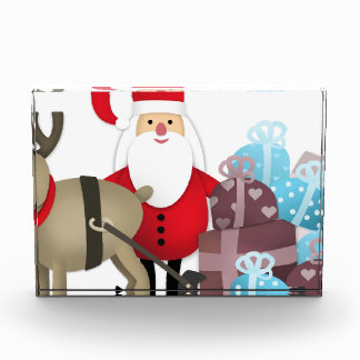 Santa & His Reindeer with Gifts Award