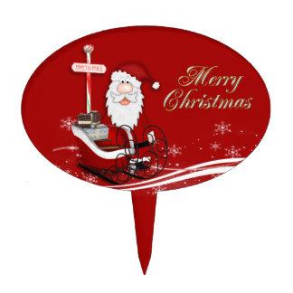 Santa & His Sleigh Christmas Cake Picks