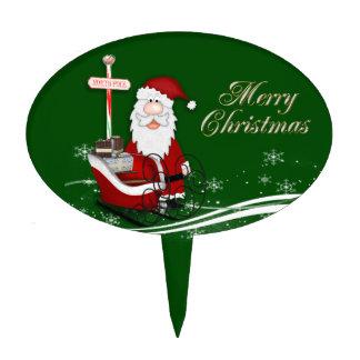 Santa & His Sleigh Christmas Cake Topper