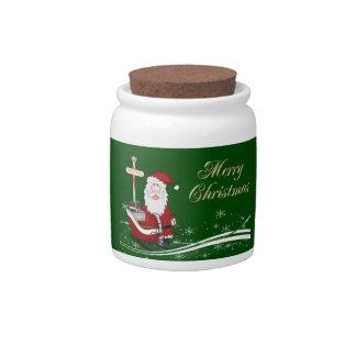 Santa & His Sleigh Christmas Candy Dish