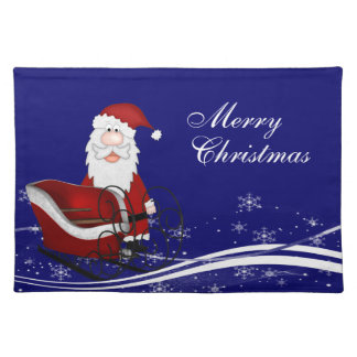 Santa & His Sleigh Christmas Place Mats