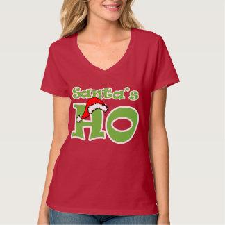 Santa Ho: Camiseta divertida del navidad Playera