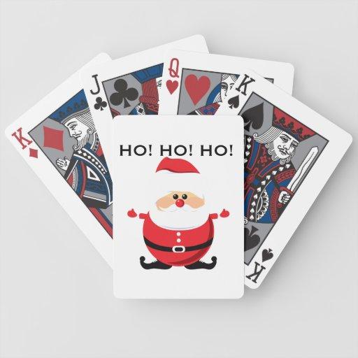 Santa Ho Ho Ho Bicycle Playing Cards