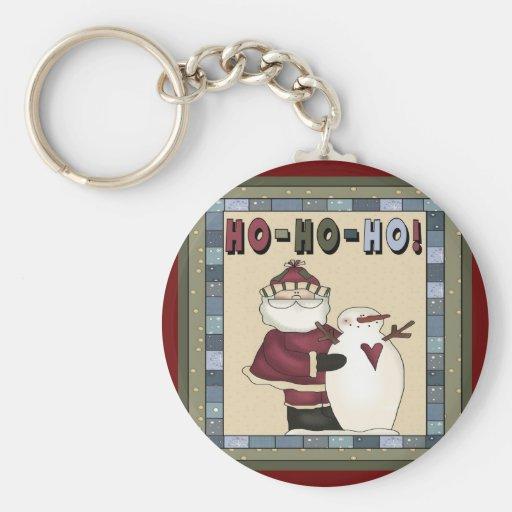 Santa Ho-Ho-Ho Christmas Keychain