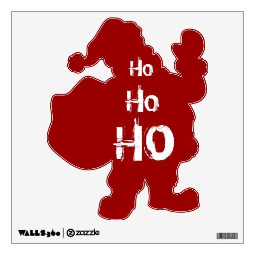 Santa Ho Ho Ho Christmas Removable Wall Decal