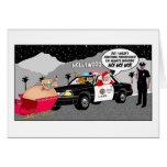 Santa Ho Ho Ho Funny Greeting Card