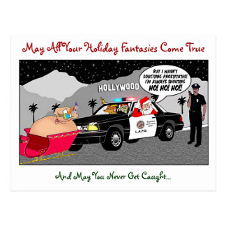Santa Ho Ho Ho Funny Postcard