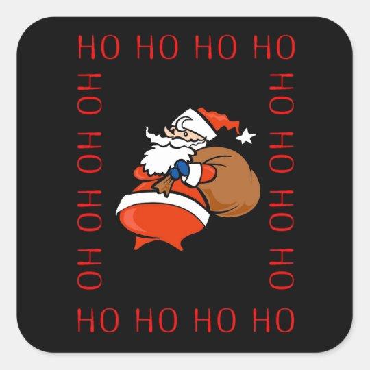 Santa Ho Ho Ho Ho Christmas Sticker