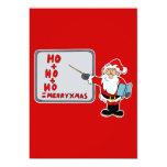 Santa ho ho ho merry christmas announcements