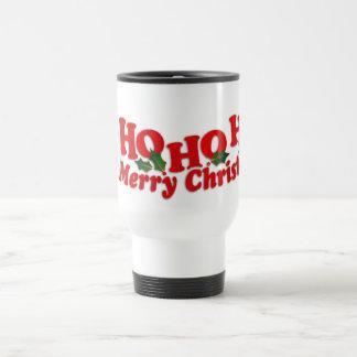"""Santa """"Ho Ho Ho Merry Christmas"""" travel mug"""