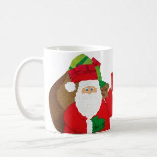 """Santa """"Ho Ho Ho Merry Christmas"""" white mug"""