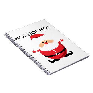 Santa Ho Ho Ho Spiral Notebooks
