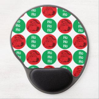 Santa Ho Ho Ho Red Green Circles Polka Dots Gel Mouse Pad