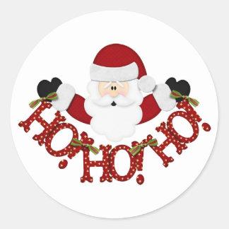 santa Ho Ho Ho Round Sticker