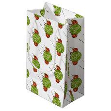 Santa hohoho Christmas holiday ornament design Small Gift Bag