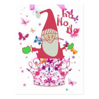 Santa Hohoho ! Lovely Infinity Butterfly postcard