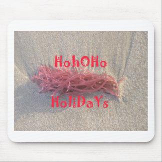 Santa HoHoHo Merry Christmas From Beach colors Mouse Pad