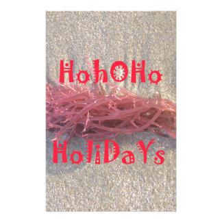 Santa HoHoHo Merry Christmas From Beach colors Stationery