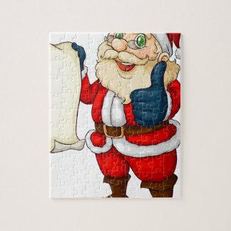 Santa holding an empty list for Christmas Jigsaw Puzzle
