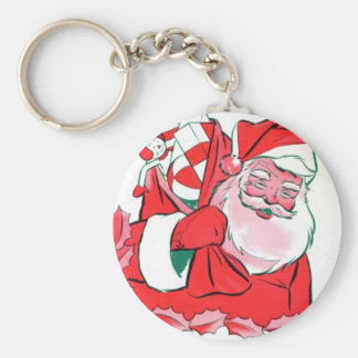 Santa Holiday Gifts Keychain