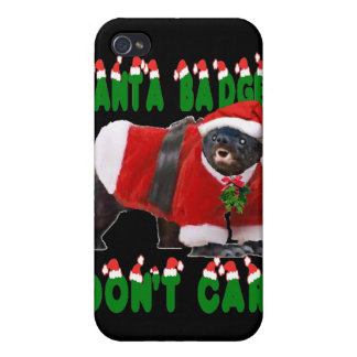 Santa Honey Badger Don t Care iPhone 4 Cover
