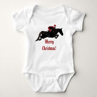 Santa Horse Jumper Christmas Baby Bodysuit