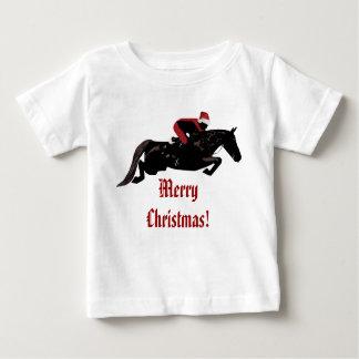 Santa Horse Jumper Christmas Baby T-Shirt