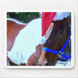 Santa Horse Mouse Pad
