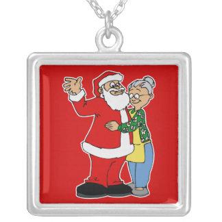 santa hugging mrs claus custom jewelry