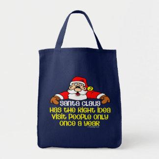Santa Humor Tote Bag