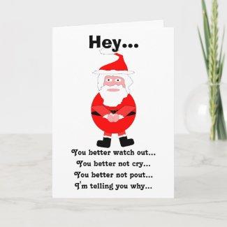 Santa Humorous Christmas Card card