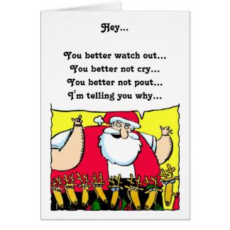 Santa Humorous Christmas Card