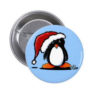 Santa Humphrey Penguin Totes & Gifts 2 Inch Round Button