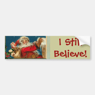 Santa I Believe Jumbo Sticker