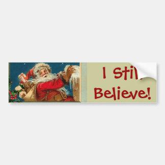 Santa I Believe Jumbo Sticker Car Bumper Sticker