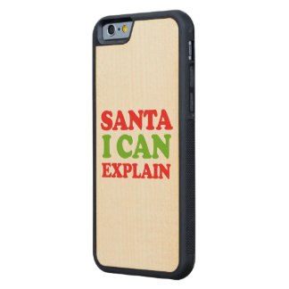 Santa I can explain -- Holiday Humor Carved® Maple iPhone 6 Bumper Case