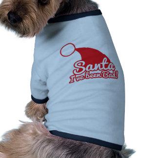 ¡SANTA I ha sido MALO Diseño divertido del navida Camiseta De Perrito