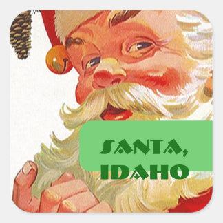 Santa Idaho ID Promo  Luggage Label Travel sticker
