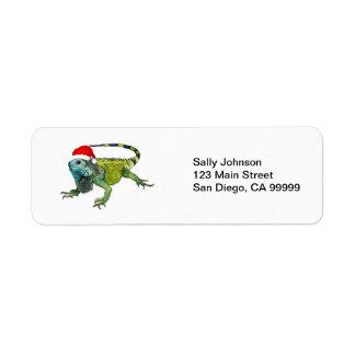Santa Iguana Label