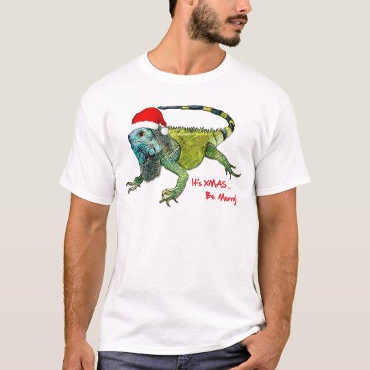 Santa Iguana T-Shirt