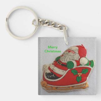 Santa in a Sleight Keychain