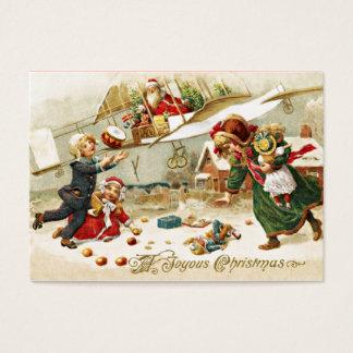 Santa in an Airplane Business Card