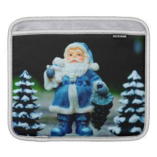 Santa in Blue iPad Sleeve