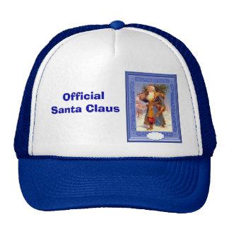 Santa in blue trucker hat